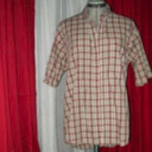 Puritan Brown, Black and White Button Up